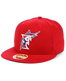 New Era Miami Marlins Retro 2009 Stars and Stripes 59FIFTY Fitted Cap