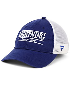 Authentic NHL Headwear Tampa Bay Lightning Mesh Bar Trucker Snapback Cap