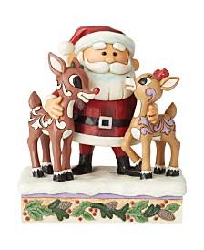 Jim Shore Santa Hugging Rudolph & Clarice