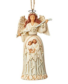 White Woodland Nativity Angel Ornament