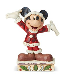Jim Shore Mickey Christmas Personality Pose