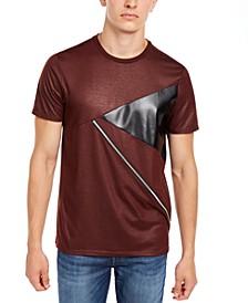 Men's Pieced Zipper T-Shirt