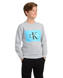 Big Boys Monogram Logo Sweatshirt