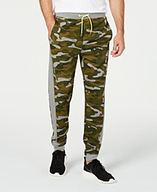 Men's Colorblocked Camo Joggers, Created for Macy's