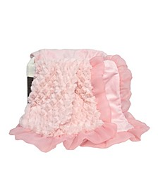 Arianna Plush and Satin Blanket