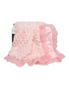 The Peanutshell Arianna Plush and Satin Blanket