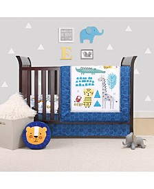Belle Safari Party 4-Piece Crib Bedding Set