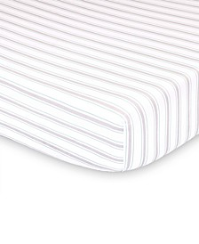 Farmhouse Stripe Fitted Crib Sheet
