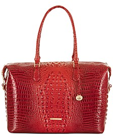 Duxbury Melbourne Embossed Leather Carryall