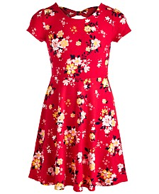 Epic Threads Big Girls Floral-Print Bow Back Dress, Created for Macy's
