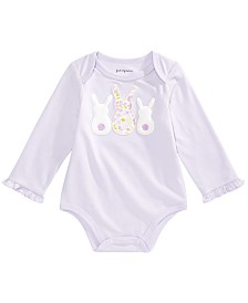 First Impressions Baby Girls Bunnies Bodysuit, Created for Macy's