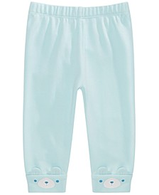 Baby Boys Cotton Bear-Cuff Jogger Pants, Created for Macy's