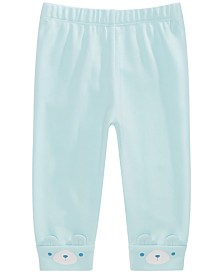 First Impressions Baby Boys Cotton Bear-Cuff Jogger Pants, Created for Macy's