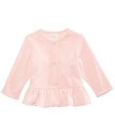 Baby Girls Peplum Hem Cardigan, Created for Macy's