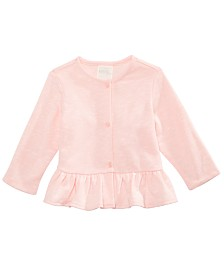 First Impressions Baby Girls Peplum Hem Cardigan, Created for Macy's