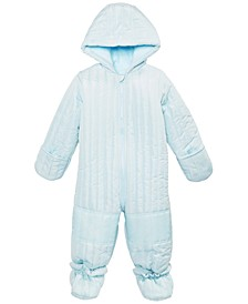 Baby Boys Quilted Detachable Foot Snowsuit, Created for Macy's