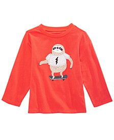 Baby Boys Sloth-Print Cotton T-Shirt, Created for Macy's