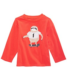 First Impressions Baby Boys Sloth-Print Cotton T-Shirt, Created for Macy's