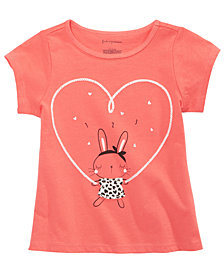 First Impressions Toddler Girls Bunny-Print Cotton T-Shirt, Created for Macy's
