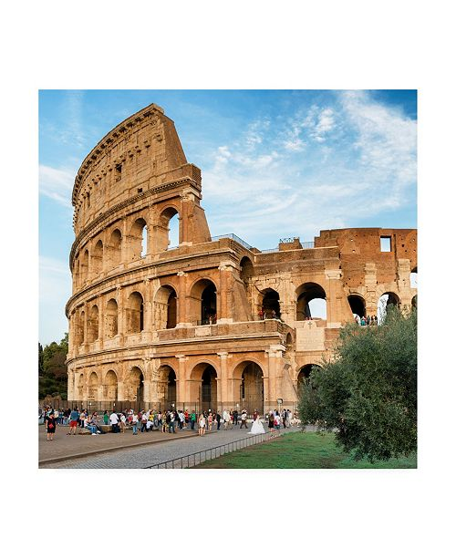 """Trademark Global Philippe Hugonnard Dolce Vita Rome 3 the Colosseum at Sunset Canvas Art - 19.5"""" x 26"""""""