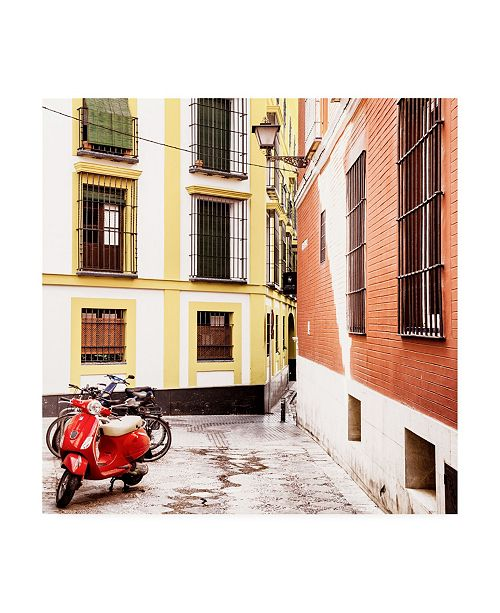"Trademark Global Philippe Hugonnard Made in Spain 3 Crossroads of Colors in Seville Canvas Art - 36.5"" x 48"""