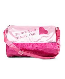 Capezio Girls Heart Barrel Bag