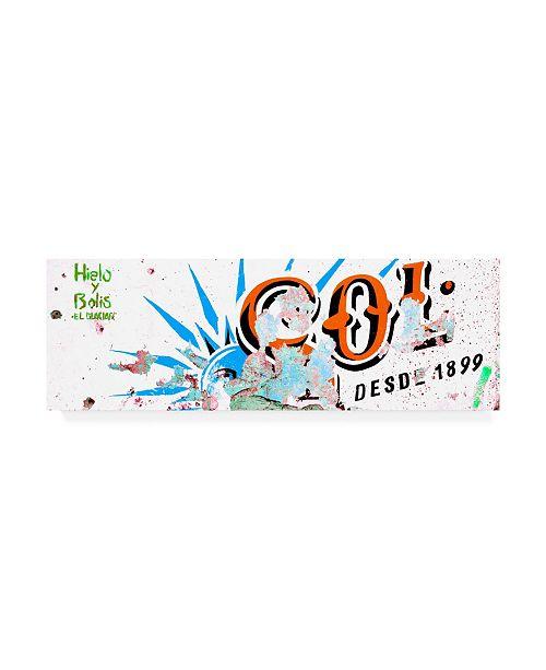 "Trademark Global Philippe Hugonnard Viva Mexico 2 Orange SOL Sign Street Wall Canvas Art - 36.5"" x 48"""