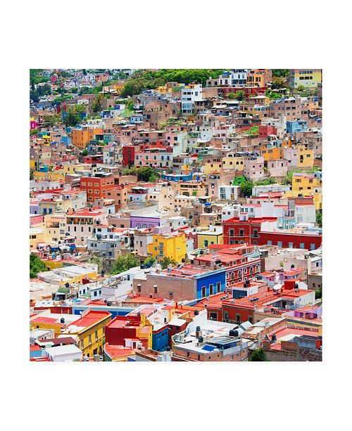"Trademark Global Philippe Hugonnard Viva Mexico 3 Colorful Guanajuato II Canvas Art - 19.5"" x 26"""