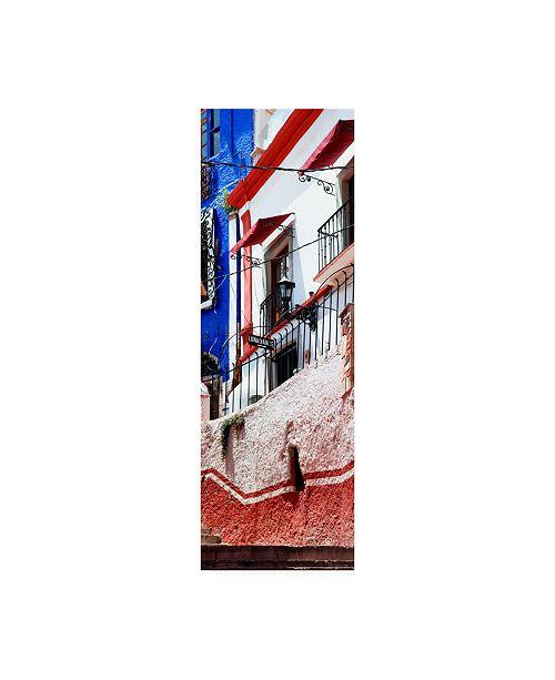 "Trademark Global Philippe Hugonnard Viva Mexico 2 Guanajuato Facade Canvas Art - 19.5"" x 26"""