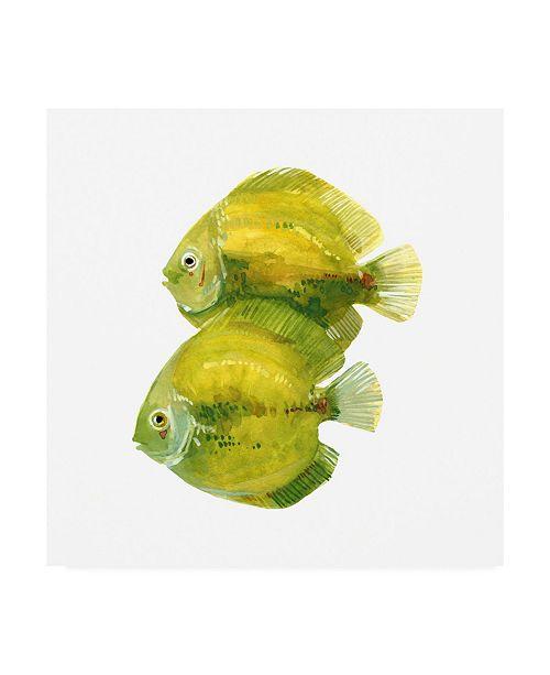 "Trademark Global Emma Scarvey Discus Fish II Canvas Art - 15.5"" x 21"""
