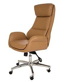 Mid-Century Modern Leatherette Gaslift Adjustable Swivel Office Chair