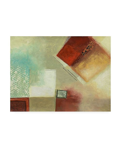 """Trademark Global Pablo Esteban Watered Down Squares with Jewel Canvas Art - 36.5"""" x 48"""""""