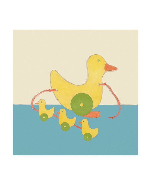 "Trademark Global Chariklia Zarris Julians Pals III Childrens Art Canvas Art - 15.5"" x 21"""