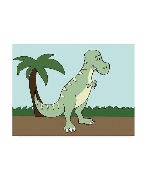 "Trademark Global Pam Ilosky Prehistoric Playtime I Childrens Art Canvas Art - 19.5"" x 26"""