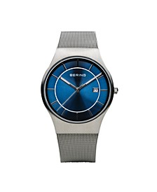 Men's Classic Stainless Steel Mesh Watch