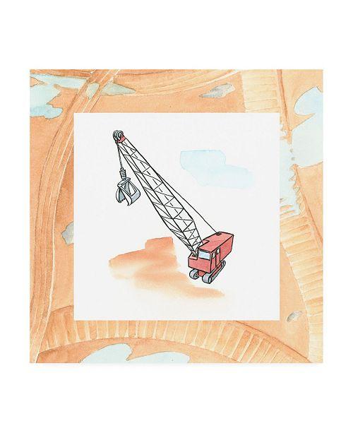 "Trademark Global Charles Swinford Charlies Crane Childrens Art Canvas Art - 15.5"" x 21"""
