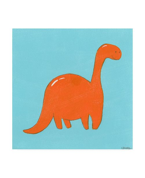 "Trademark Global June Erica Vess Brontosaurus Childrens Art Canvas Art - 15.5"" x 21"""