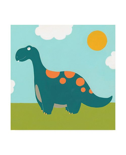 "Trademark Global June Erica Vess Playtime Dino III Canvas Art - 15.5"" x 21"""