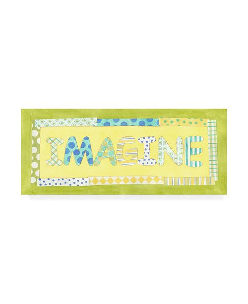 "Trademark Global Megan Meagher Imagine Phrase Canvas Art - 36.5"" x 48"""