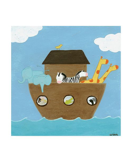 "Trademark Global June Erica Vess Noahs Ark I Canvas Art - 15.5"" x 21"""