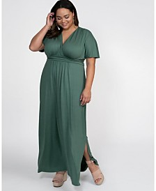 Kiyonna Women's Plus Size Vienna Maxi Dress