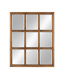 "Hogan 9 Windowpane Wood Wall Mirror - 26"" x 32"""