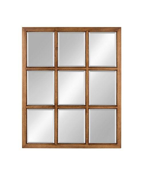 "Kate and Laurel Hogan 9 Windowpane Wood Wall Mirror - 26"" x 32"""