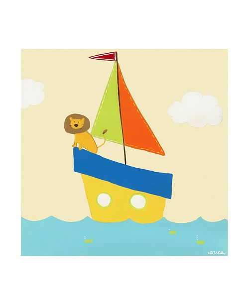 "Trademark Global June Erica Vess Sailboat Adventure II Canvas Art - 36.5"" x 48"""