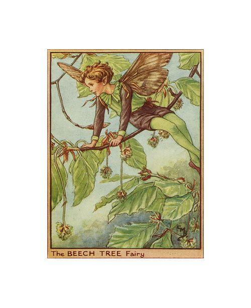 "Trademark Global Vision Studio The Beech Tree Fairy Canvas Art - 15.5"" x 21"""