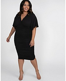 Women's Plus Size Rumor Ruched Dress