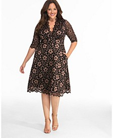 Women's Plus Size Mon Cherie Lace Dress