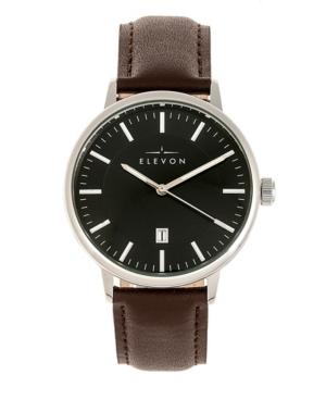 Men's Vin Genuine Leather Strap Watch 42mm