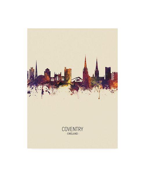 "Trademark Global Michael Tompsett Coventry England Skyline Portrait III Canvas Art - 15.5"" x 21"""