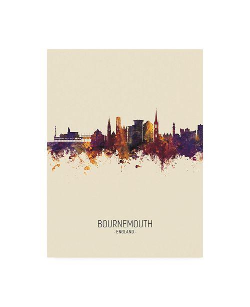 "Trademark Global Michael Tompsett Bournemouth England Skyline Portrait III Canvas Art - 19.5"" x 26"""